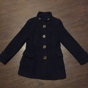 Old Navy Pea Coat, Navy Blue Size Small